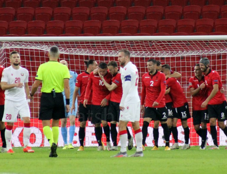 Nations League, Albania wins 3-2 against Belarus, ranks first in Group 4 | Albanian Telegraphic Agency